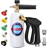MATCC Foam Cannon Wash Gun Kit Pressure Washer Gun with 5 Nozzle Tips Snow Foam Lance Foam Blaster for 3000PSI Pressure Washe
