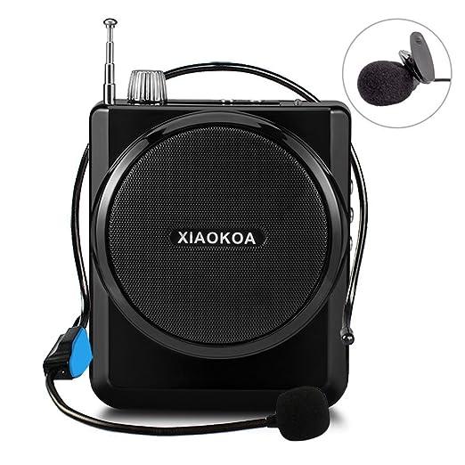 12 opinioni per XIAOKOA Amplificatore vocale ricaricabile 1800mAh con microfono auricolare