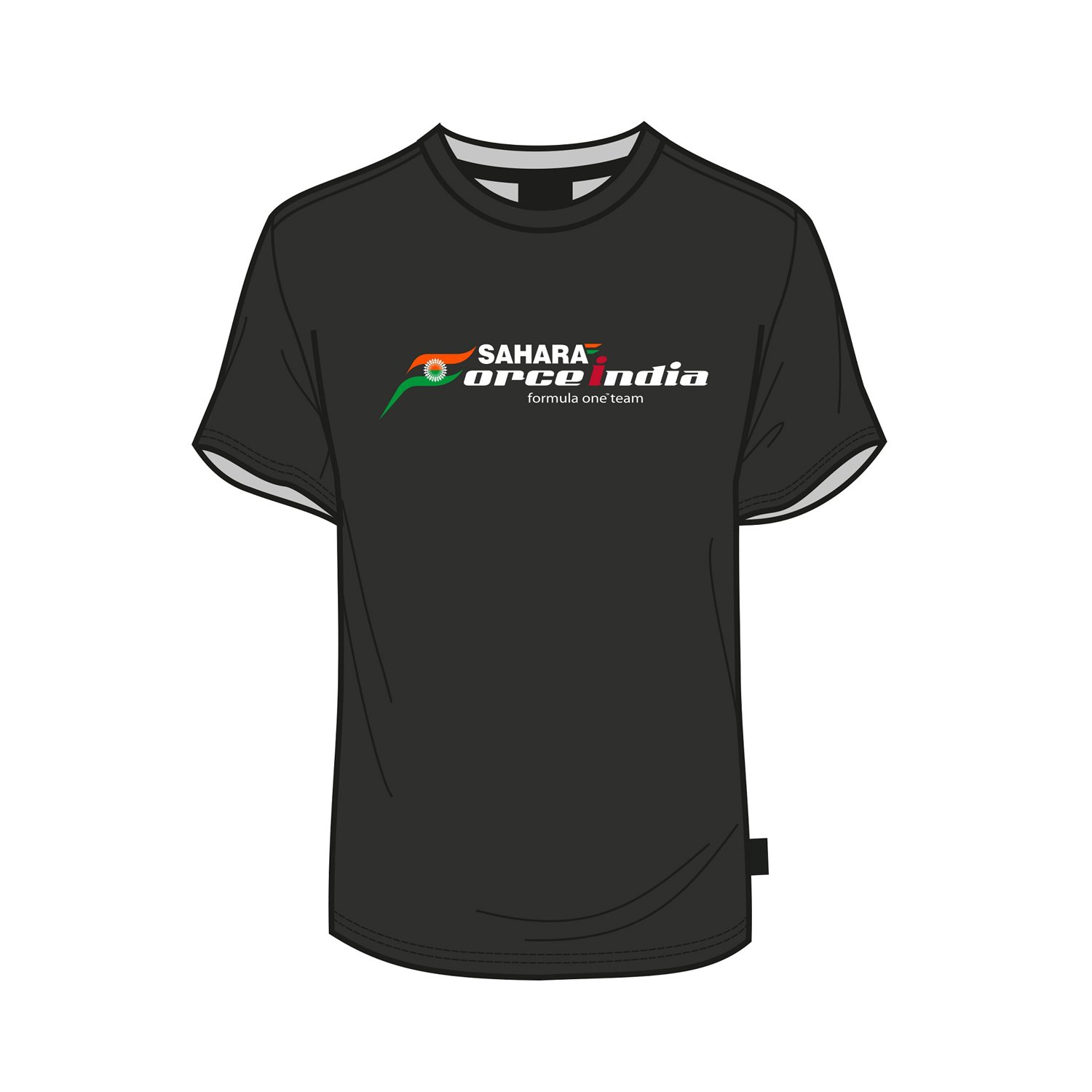 SAHARA FORCE INDIA FORMULA ONE F1 FAN MENS MALE T-SHIRT BLACK SALE