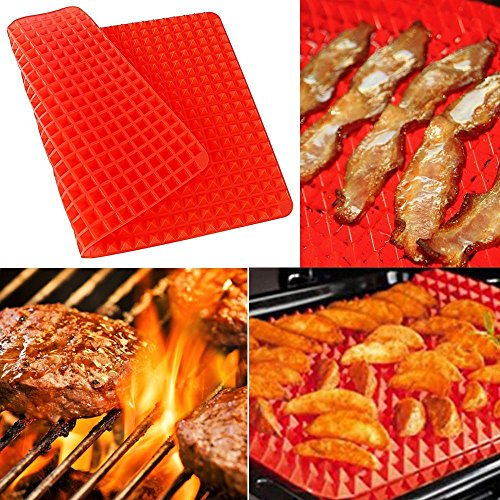 Silicone Pyramid Baking Sheet Pan Tray Pastry with Fat Reduc