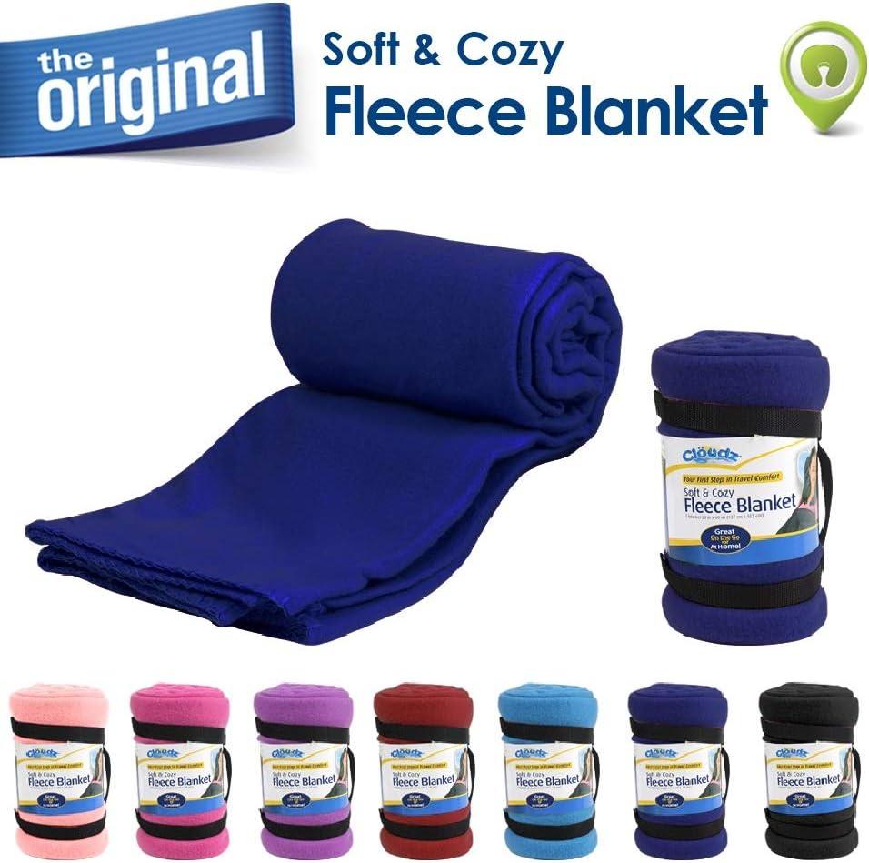 Cloudz Fleece Travel Blanket - Blue