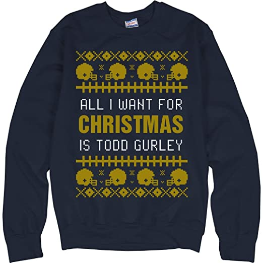 new product 5305a 28c95 Amazon.com: Customized Girl Football Ugly Sweater T. Gurley ...