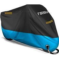 Favoto Funda para Moto Cubierta de la Moto 210D Impermeable Protectora con Banda Reflectante a Prueba de Sol Lluvia…