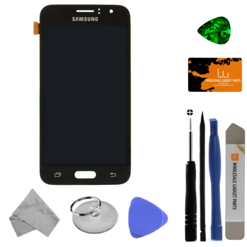LCD & Digitizer Assembly for Samsung Galaxy J1 (2016) (Black) (OEM) with Tool Kit
