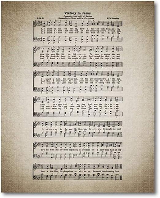 Hoja del himnario antiguo Cartel de la victoria en el himno de ...