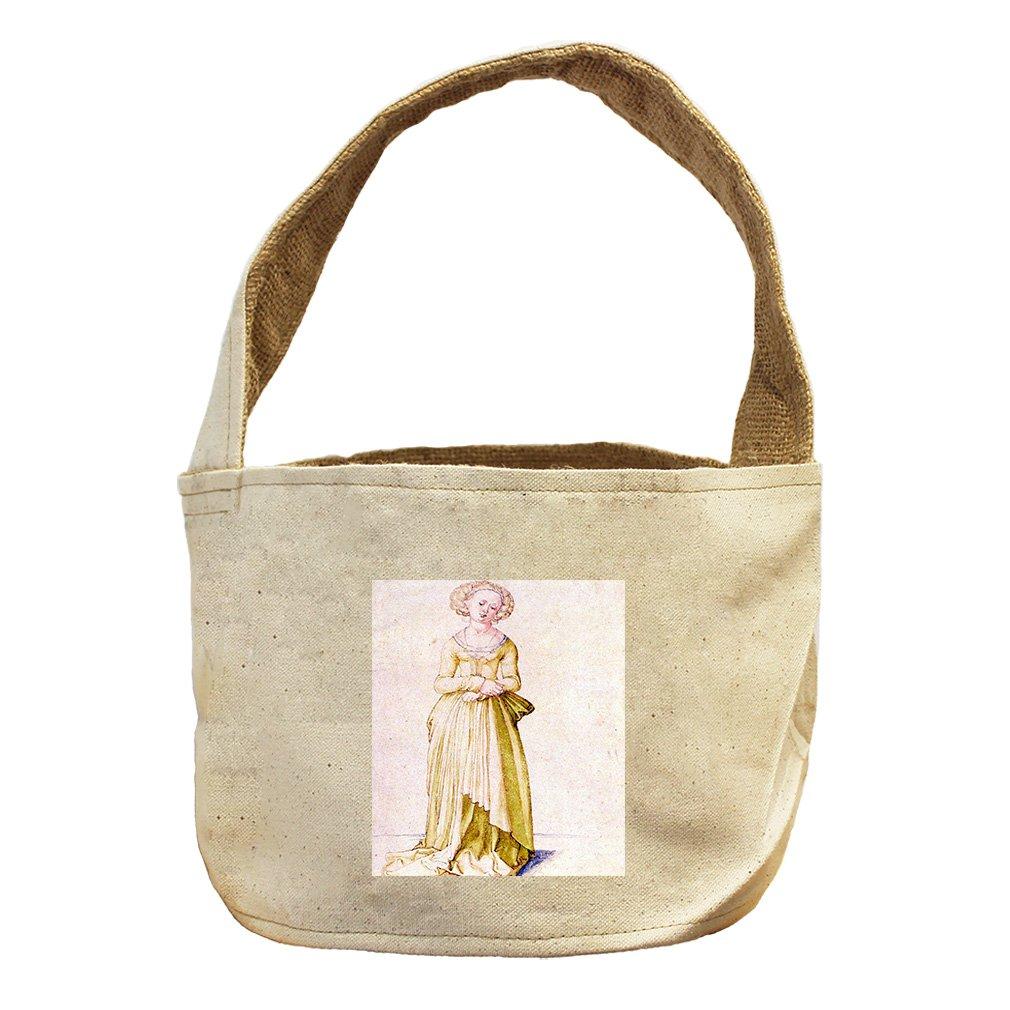 Style in Print Nuremberg Virgin In Dance Dress (Durer) Canvas and Burlap Storage Basket