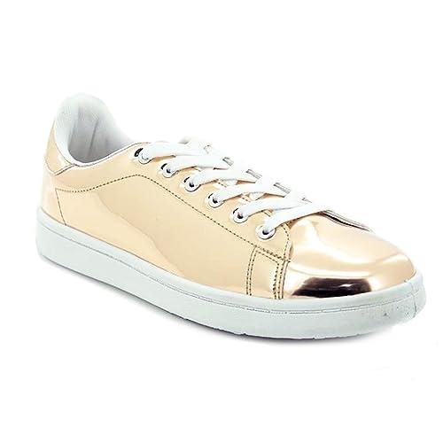 Scarpe donna sneakers ginniche lucide specchio casual nuove Queen Helena X17-31 Yj2Gs