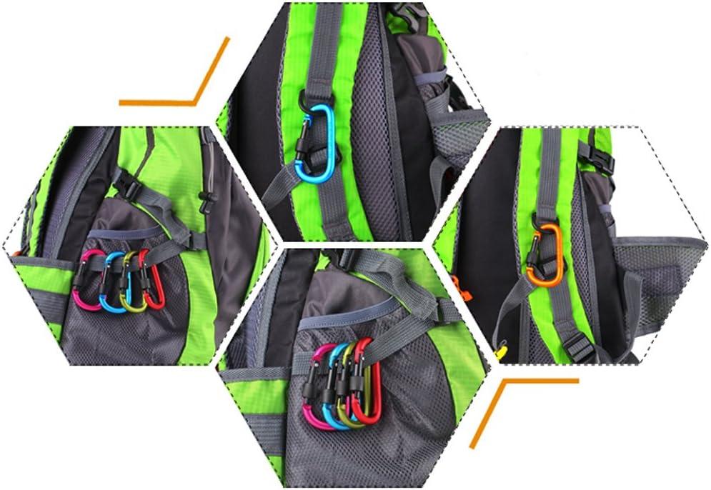 senderismo Mosquetones de llavero con ganchos para el trabajo seguridad equipo de seguridad para camping deportes al aire libre supervivencia no para escalada Xgeek