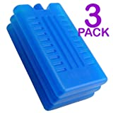 Freezer Blocks - Use With a Cool Bag For Added Cooling - Cools & Keeps Food Fresh (Pack of 3)