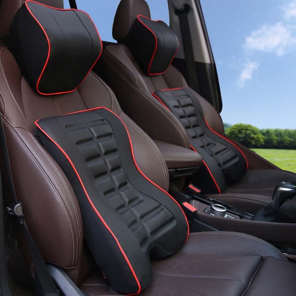 Auto Kopfstütze Rückenlehne Anzug Größe Größe Größenkissen Größenkissen Größenkissen Rückenkissen Für Fahrzeugsitz Speicher Baumwolle b932d2