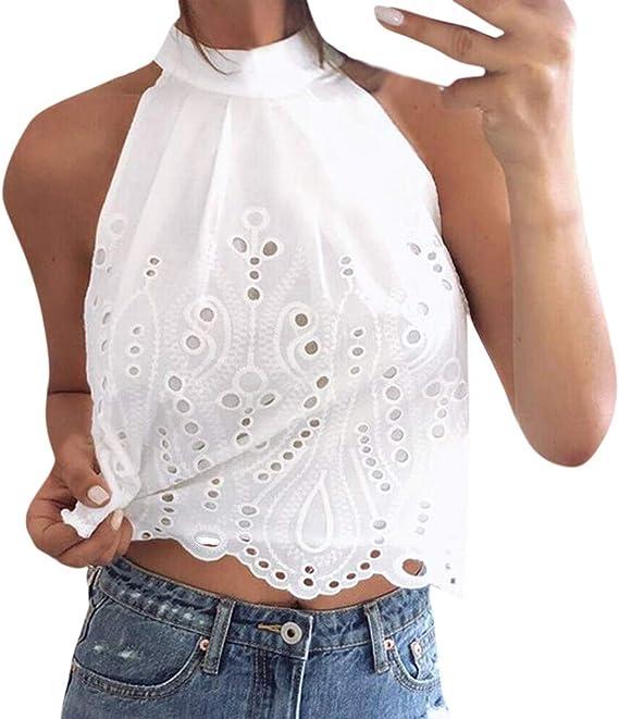 Jaysis T-shirt Femme Ete Manche Courte Nombril
