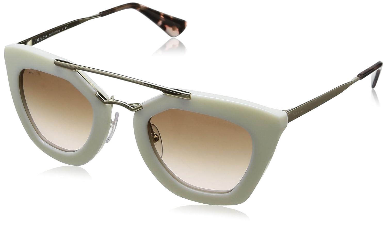 3c241f9612174 Amazon.com  Prada PR09QS Sunglasses-7S3 0A6 Ivory (Brown Gradient  Lens)-49mm  Clothing