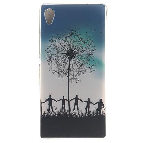Guran® Silicona Funda Carcasa para Sony Xperia M4 Aqua Smartphone Case Bumper Shock TPU Cover-Cielo azul
