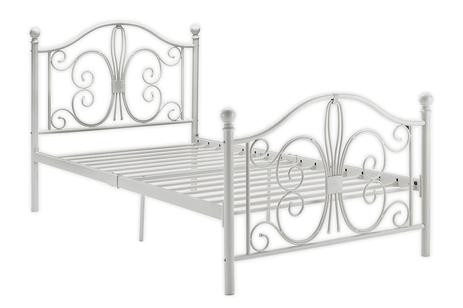 DHP Bombay Metal Bed Frame  Vintage Design and Includes Metal Slats  Twin  Size. Beds   Amazon com
