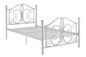 DHP Bombay Metal Bed Frame Vintage Design And Includes Slats Twin Size
