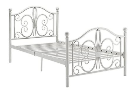 DHP Bombay Metal Bed Frame, Vintage Design and Includes Metal Slats, Twin  Size,