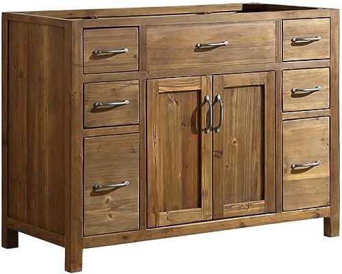 Design Element DEC4002-B-CB Bryson 48″ Farmhouse Single Sink Bathroom Vanity Base Only