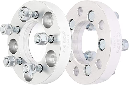 CHANGES BOLT PATTERN with 12x1.5 Studs /& Nuts 25mm Spacers 5x4.5 to 5x100 1 Black Wheel Adapters 5x114.3 to 5x100 2