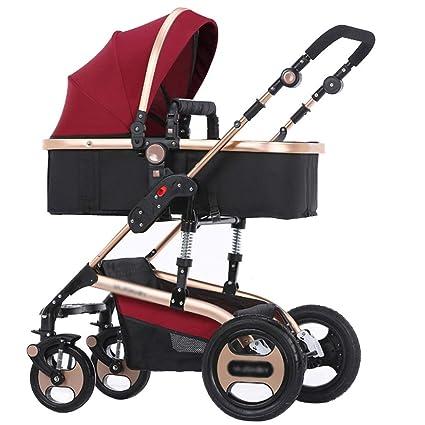 Sillas de bebé Trolley Paraguas Ligero Coche Colisión en las cuatro ruedas Plegable Se puede mentir