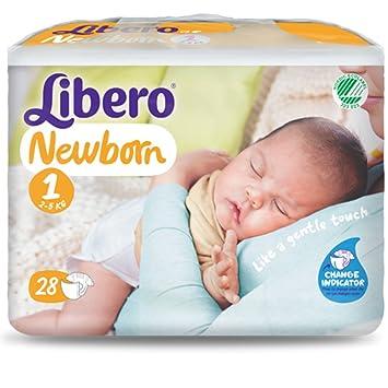 Pañales Libero Newborn Talla 1 - kg 2/5 - 112 unidades (4 paquetes de 28): Amazon.es: Bebé
