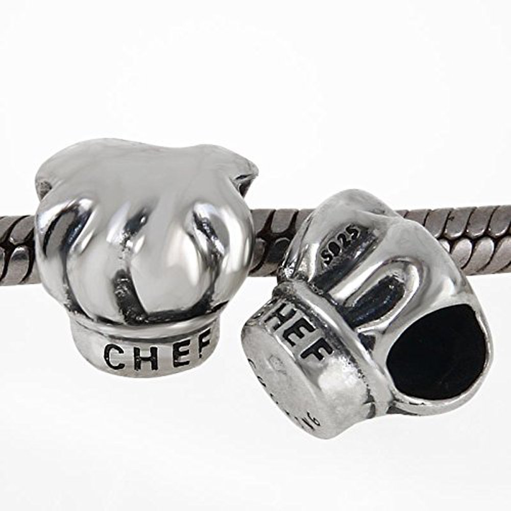 I Love Cooking Chef Hat Charm Cap Beads fit for Women Charms Bracelets