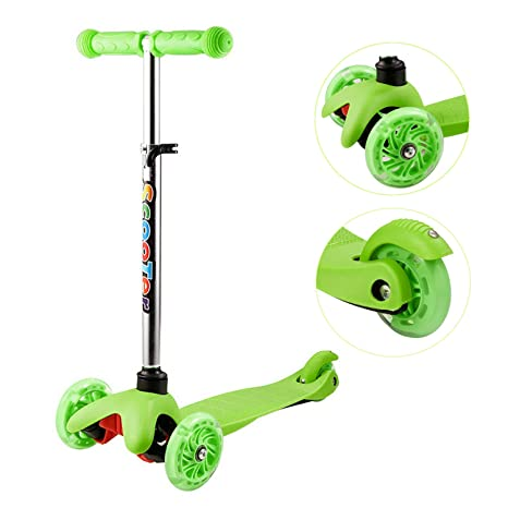 OUTCAMER - Patinete Infantil de Altura Regulable, 3 Ruedas ...