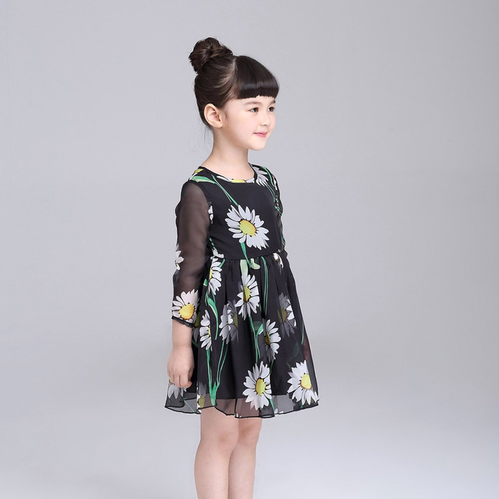 amazingdeal Kids children Girls Beautiful Daisy Printed Princess Chiffon Dress