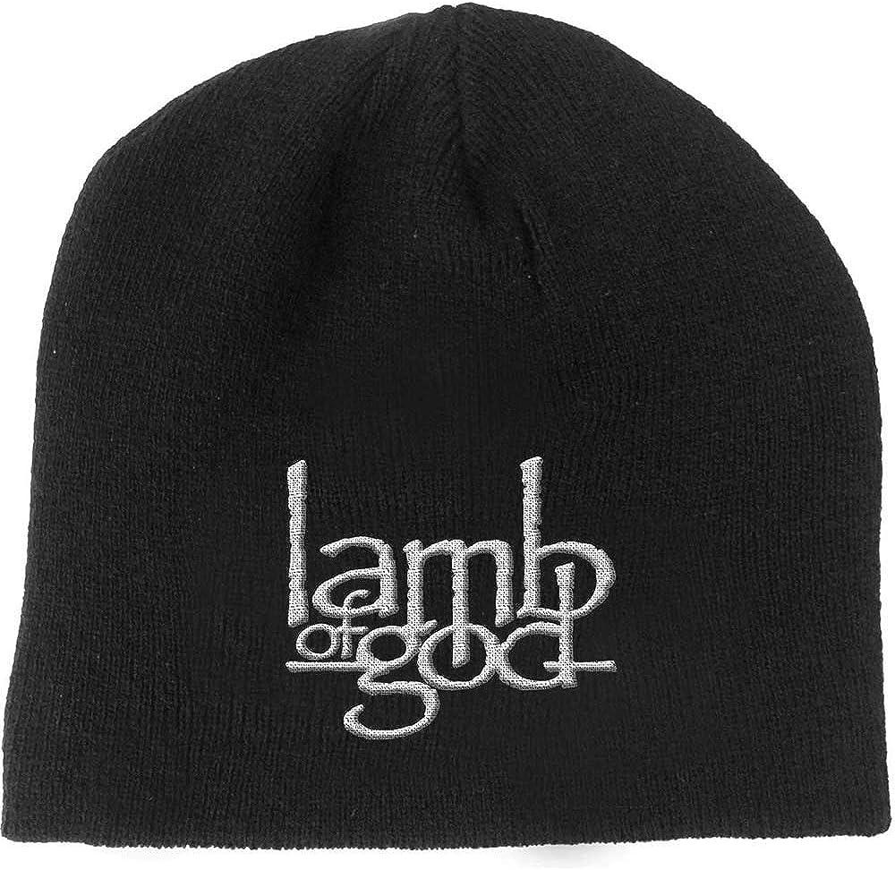 Lamb of God Mens Logo Beanie Black