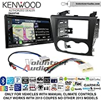 Volunteer Audio Kenwood DNX574S Double Din Radio Install Kit with GPS Navigation Apple CarPlay Android Auto Fits 2007-2013 Nissan Altima (Manual Climate Controls)
