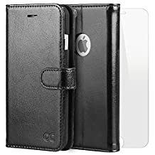 iPhone 6 Plus Case iPhone 6S Plus Case OCASE [Free Screen Protector Included] Leather Wallet Flip Case For For Apple iPhone 6/6S Plus Devices -Black