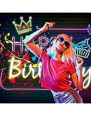 Imirell Happy Birthday - Fondo de tela de poliéster con diseño de graffiti que brilla en la oscuridad, diseño de coronas de baile, fondo de fotografía, fotografía, fondos de fotografía, decoración de fotos