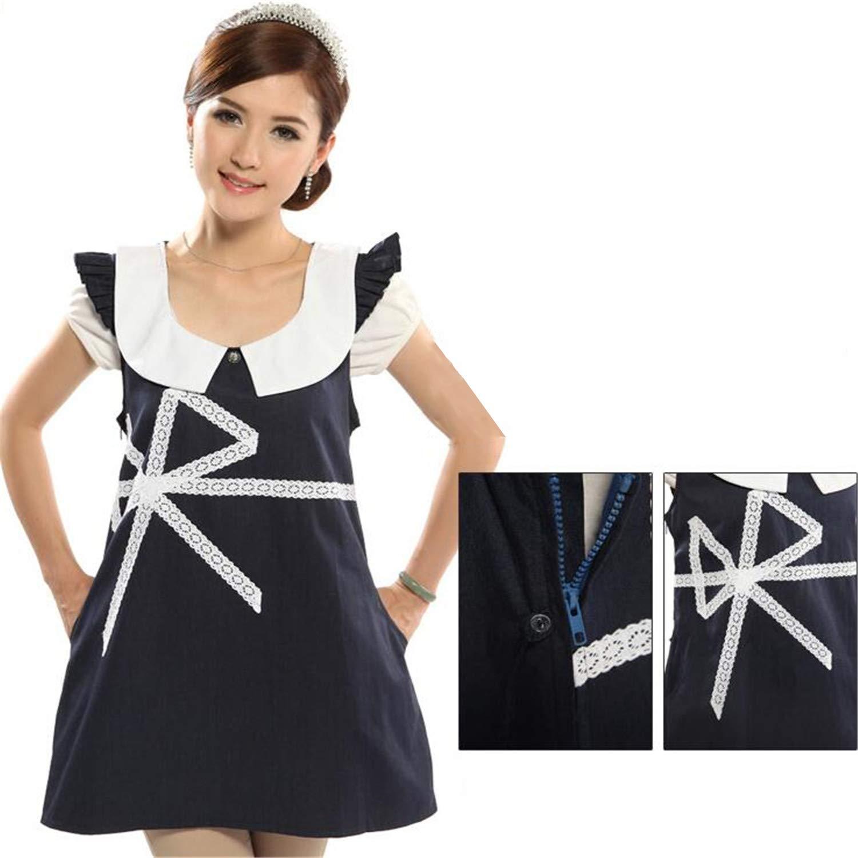 bluee Radiation Predection Suit Maternity Clothes Four Seasons Silver Fiber Radiation Predection Dress to Send Apron