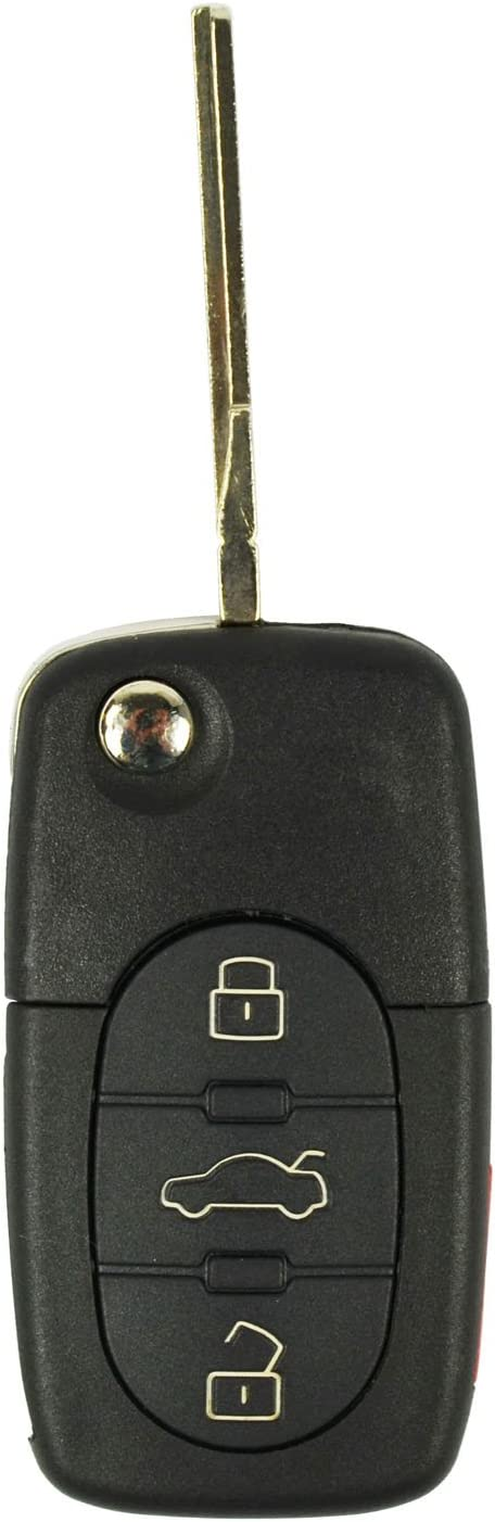 qualitykeylessplus Replacement Remote for FCC ID NBG92596263 Keyless Entry Flip Key with Uncut Blade Free KEYTAG