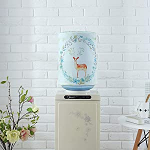 DFYOUHome Water Dispenser Barrel Covers, Reusable Furniture Standard Cover Protector for Home, Office and 5 Gallon Water Bottle, Durable Fabric Bucket Décor (Elk)