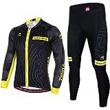 Asvert Ropa de Bicicleta Hombre MTB Traje de Ciclismo Mangas Largas Maillot+Pantalones Equipación de Ciclista, Talla M-3XL