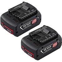 Para Todas las Herramientas El/éctricas sin Cable 18 V de 050A//050B//025A//025B//025C Taladro inal/ámbrico Bater/ía de Repuesto de 2.0 Ah Orfeld Professional Bater/ía 18V Recargable de Ion de Litio