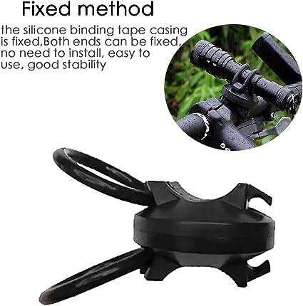 Bike Flashlight Holder Mount Clip Clamp For LED Head Light Lamp Torch US