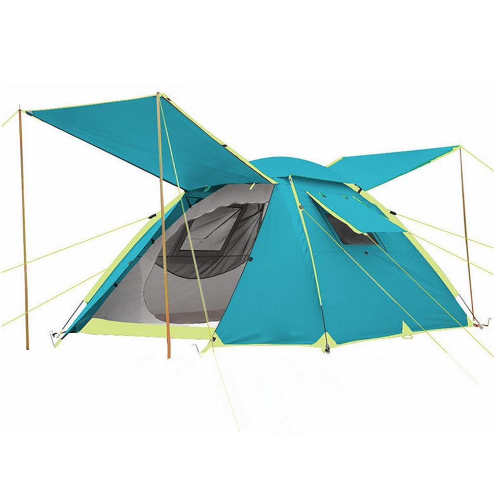 MIAO Outdoor Double Layer 3-4 Personen Camping Rain Prevention Automatische Zelte