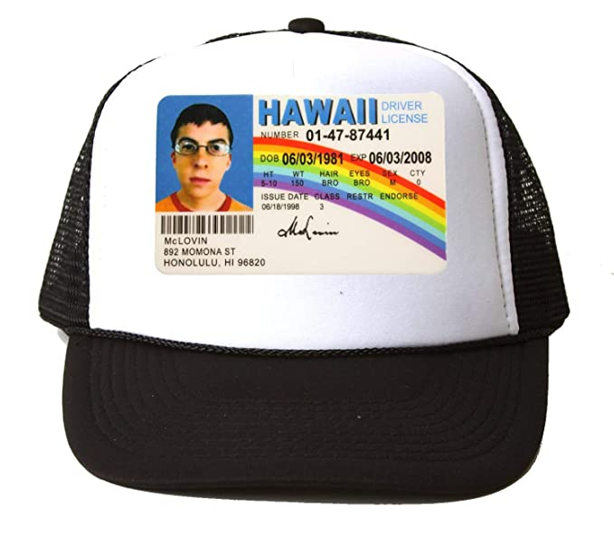 McLovin Driving License Baseball Cap Hat Gorra Unisex One Size ...