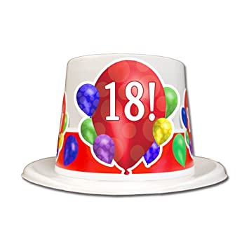 Amazon 18TH BIRTHDAY BALLOON BLAST TOP HAT EACH Health