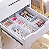 Chris.W Desk Drawer Organizer Tray with Adjustable Dividers, Multi-Drawers for Makeups, Utensil, Pens, Flatware and…