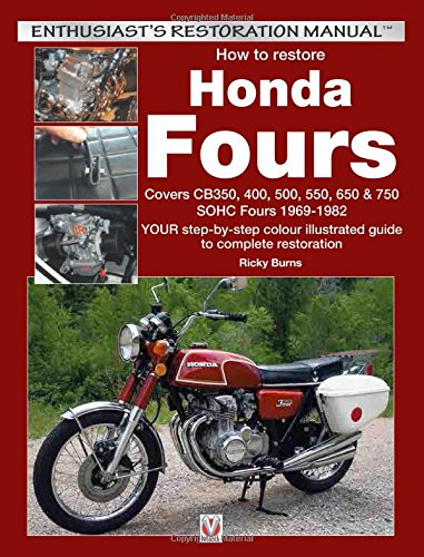 How To Restore Honda Fours Covers Cb  Sohc Fours   Your Step By Step Colour Illustrated Guide To Complete