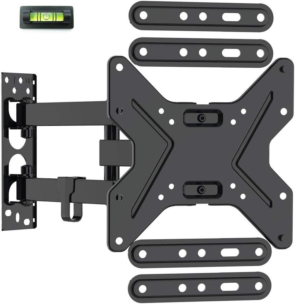Loctek 26-55 inch TV Wall Mount Bracket Upto 72 lbs Weight Capacity, MAX. 400x400mm VESA Size, Full Motion Swivel Articulating Flat Screen