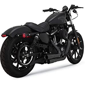 Vance & Hines 09-19 Harley XL883N Mini-Grenades 2-into-2 Exhaust (Black)
