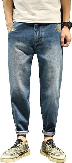 Alhylaデニムパンツ メンズ ストレート ゆったり ジーンズ メンズ カジュアル ワイドパンツ デニム おしゃれ ロングパンツ ジーパン ストリート系 夏服