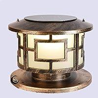 Extra Grande solar PAC después de Luces al aire libre de aluminio fundido retro Pilar de la lámpara IP65 a prueba de…