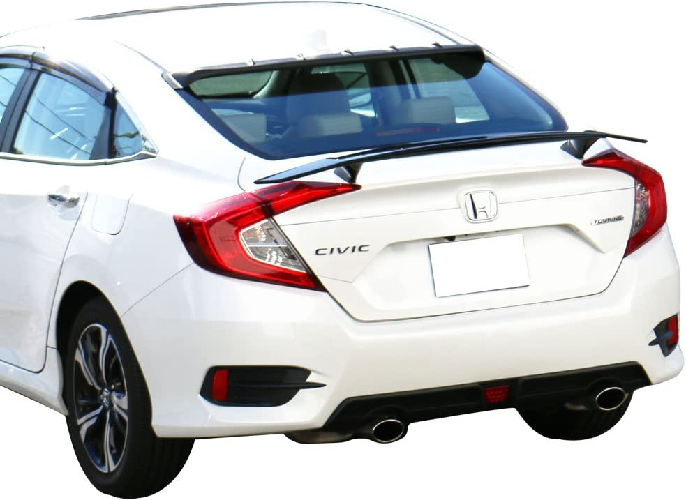 Universal Fit Matte Black Ikon Style Trunk Spoiler Wing ABS