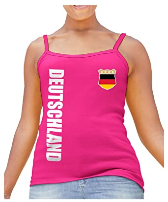 58eea5e42a10 AkyTEX Damen Strap T-Shirt Deutschland WM 2018 Trikot Name  Amazon.de   Bekleidung