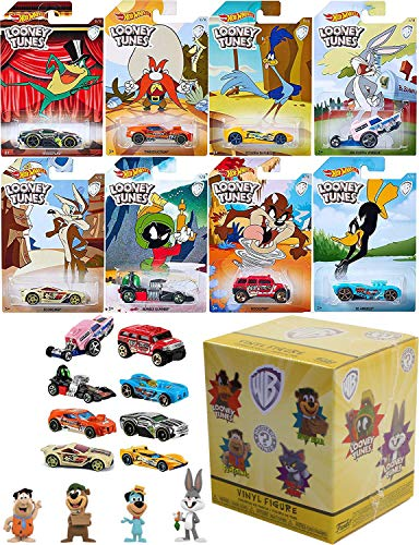 Warner Looney Hot Wheels Tunes Exclusive Cartoon Cars Bugs Bunny / Daffy Duck / Michigan J. Frog / Marvin Martian / Wile E. Coyote / Road Runner / Tazmanian Devil - Blind Box Muppets