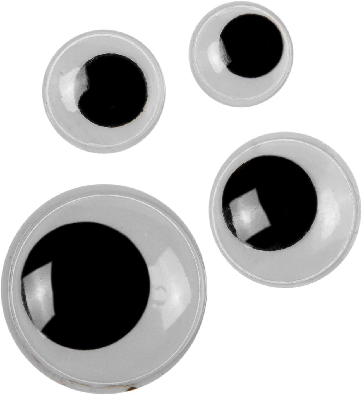 BUDILA/® 50 Wackelaugen zum Aufn/ähen 18mm Durchmesser